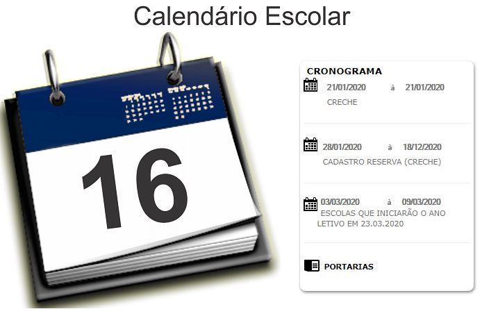 Calendário da Matrícula SEDUC MT 2021