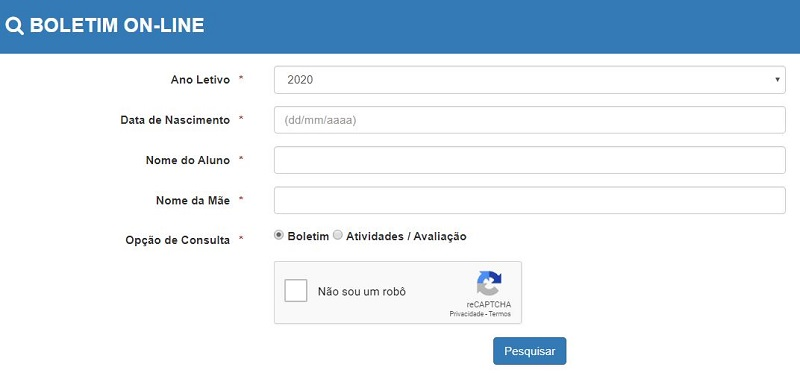 Boletim Escolar Online Pará