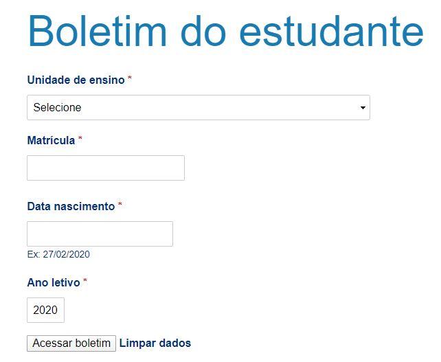 Como Consultar o Boletim Online SEDUC PE