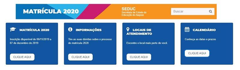 Matrícula Online SEDUC AL