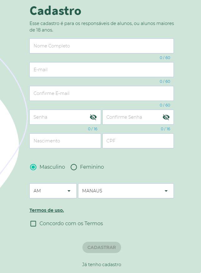 Matrícula Online SEDUC Manaus