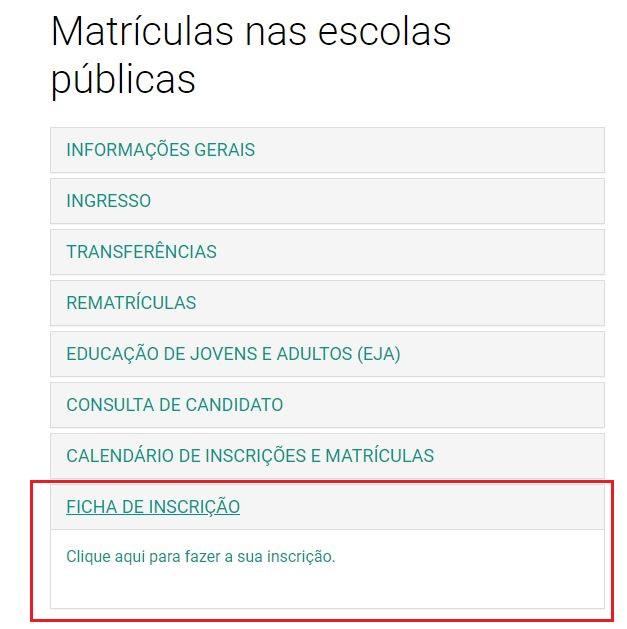 Matrícula Online SEDUC RS