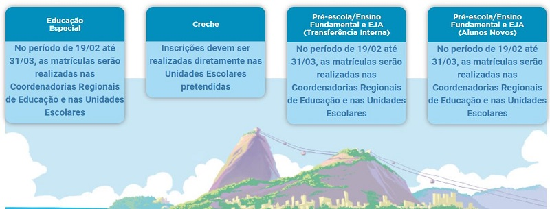 Calendário da Matrícula Rio 2021