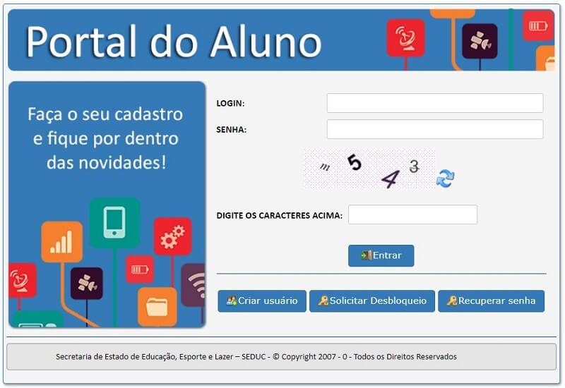 SIGEDUCA Portal do Aluno